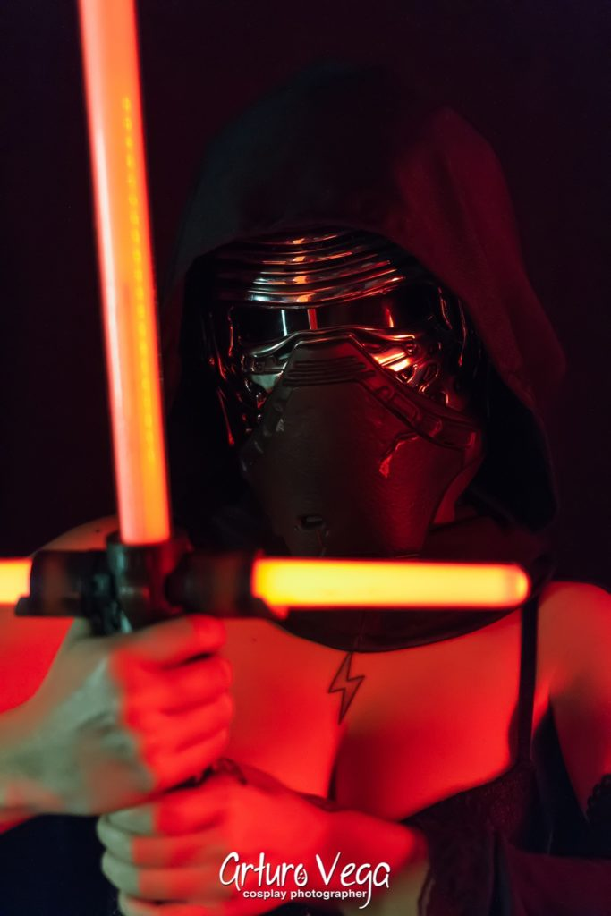 rule 63 kylo ren cosplay dark background genderbend