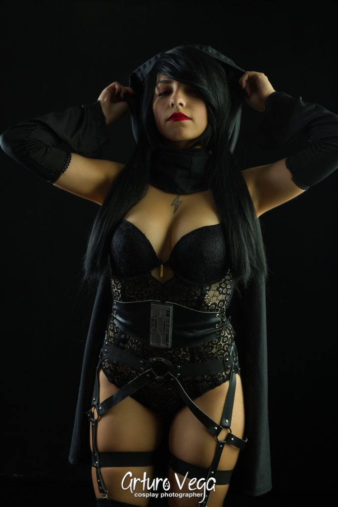 rule 63 kylo ren cosplay dark background lingerie genderbend
