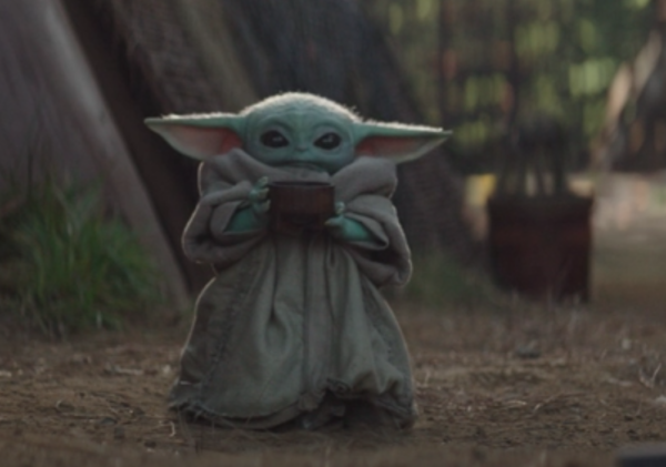 Baby Yoda Drinking Soup